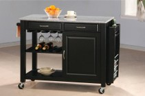 Coaster 5870 Black Kitchen Island With Granite Top by Coaster Co.