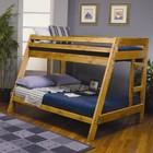 Coaster 400302 Novak Cappuccino Triple Twin Bunk Bed