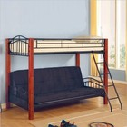 Coaster 2249 Coaster Jonathan Wood and Metal Twin over Futon Bunk Bed in Black Finish