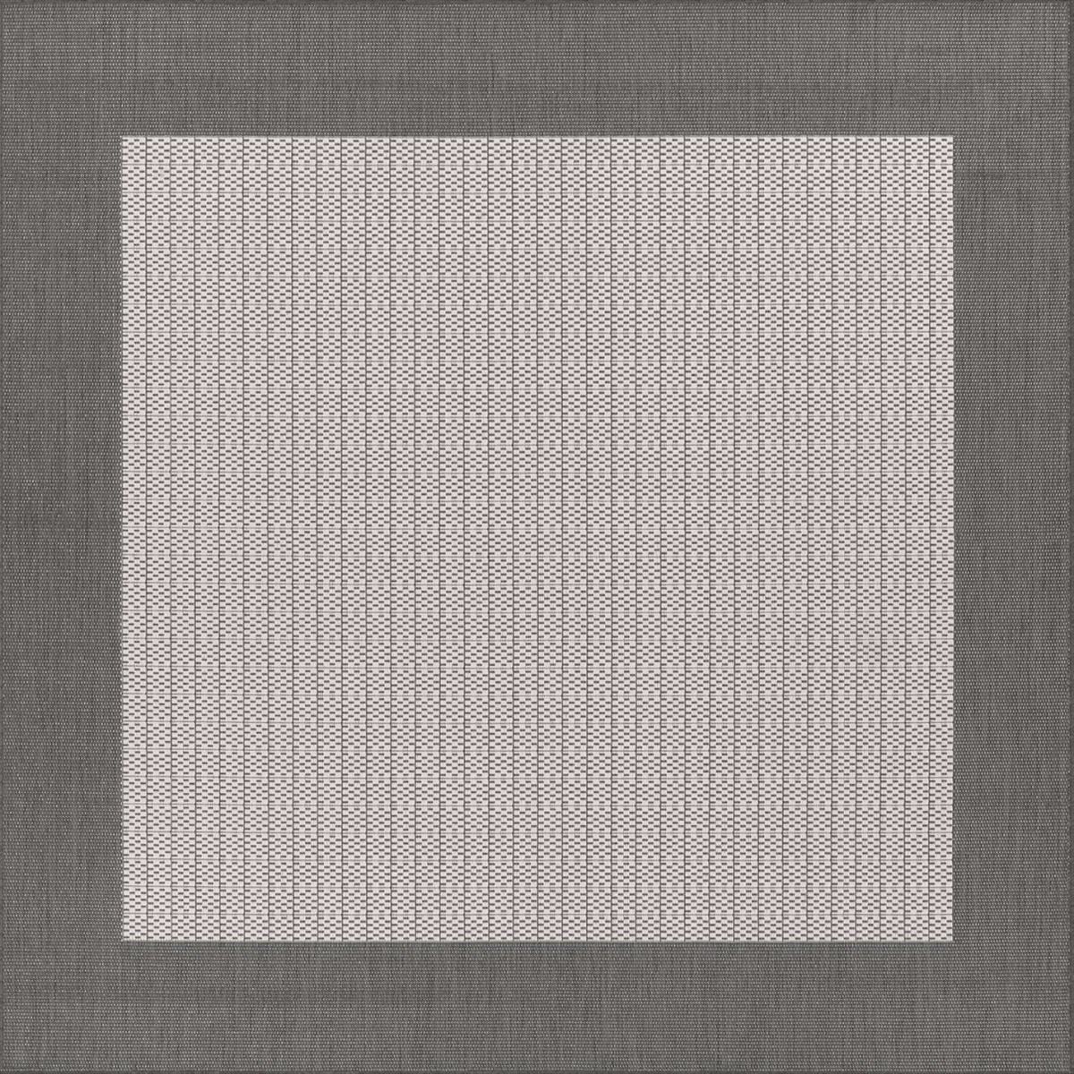 Checked Black Grey Rug: Couristan Recife Checkered Field Grey/White Rug