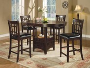Coaster Lavon Collection 102888-S5 5-Piece Dining Room Set with Counter Height Table and 4 Counter Height Stools in Espresso
