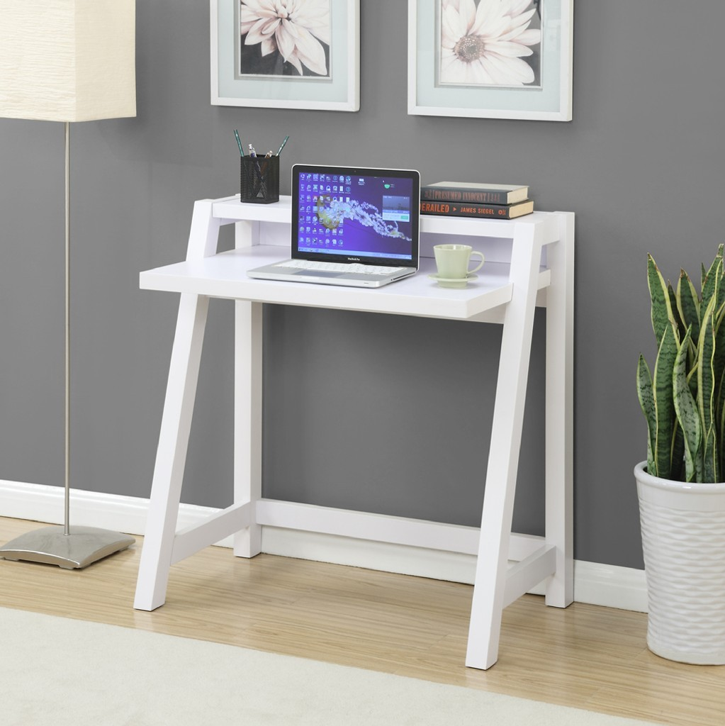 Convenience Concepts Newport Lilly Writing Desk In White