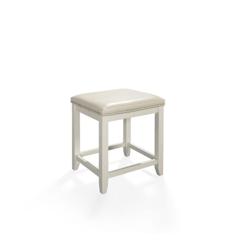 Surprising Crosley Vista Vanity Stool In White Alphanode Cool Chair Designs And Ideas Alphanodeonline