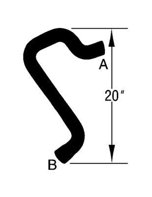 Radiator Coolant Hose-Curved Radiator Hose Upper Dayco 71320