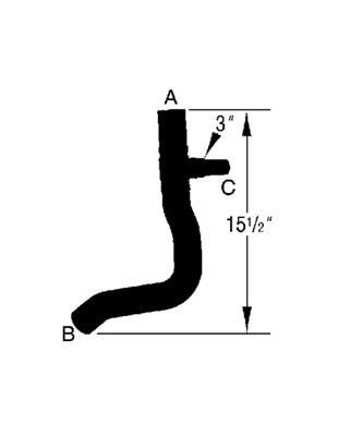 Radiator Coolant Hose-Curved Radiator Hose Lower Dayco 72033