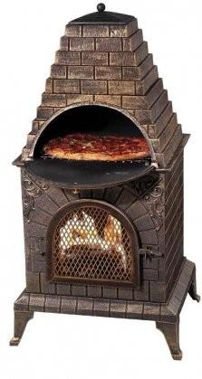 Deeco Dm 0039 Ia C Aztec Allure Cast Iron Chiminea Pizza