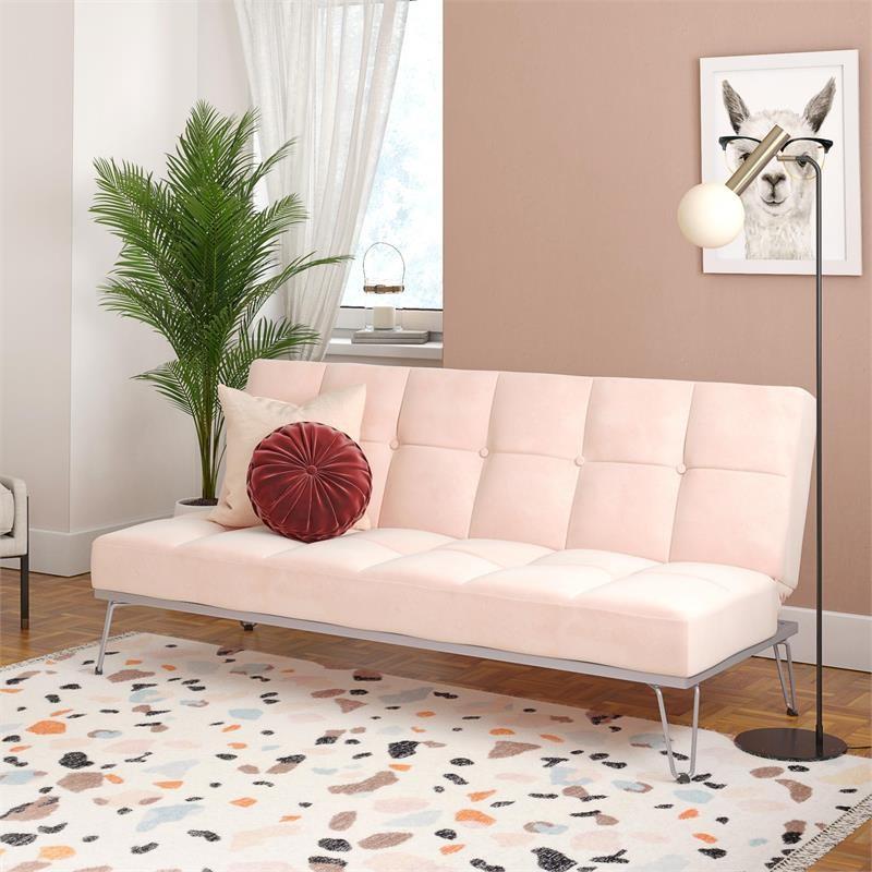 DHP Novogratz Elle Futon Convertible Sofa Bed and Couch in ...