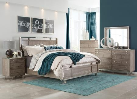 Donny Osmond Home Johnathan Collection 205191KESET 5 PC Bedroom Set With  King Size Panel Bed + ...