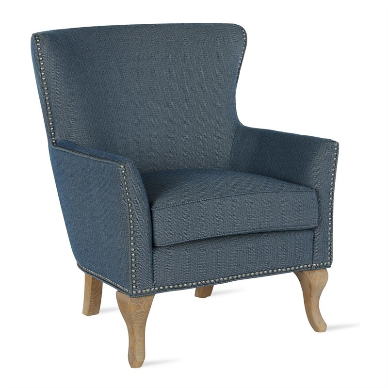 Dorel Living Reva Accent Chair In Blue Discount Bandit