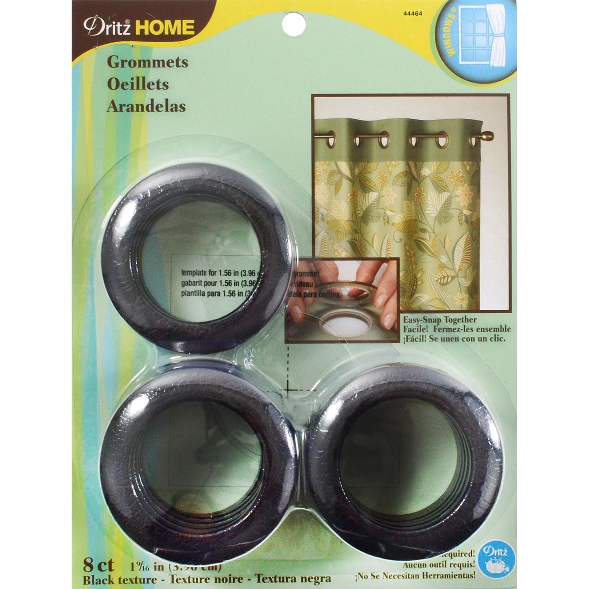 """Dritz Curtain Grommets 1-9/16"""" Inner Diameter Plastic 8"""