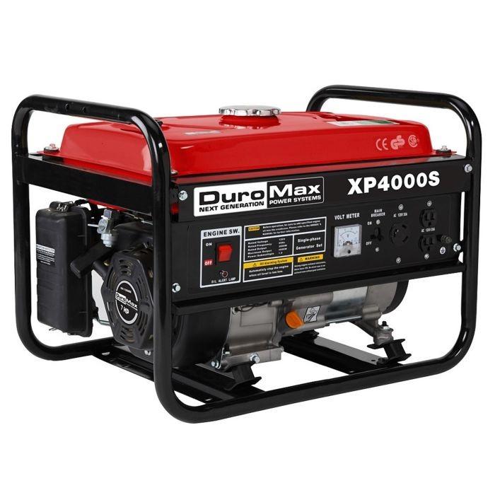 DuroMax XP4000S 4000-Watt 7-Hp Air Cooled OHV Gas Engine Portable RV  Generator