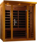 """Dynamic Florence Edition DYN-6315-01 75"""" Far Infrared Sauna with 3 Person Capacity  8 Carbon Heating Elements  Chromotherapy Lighting and Tempered Glass Door"""