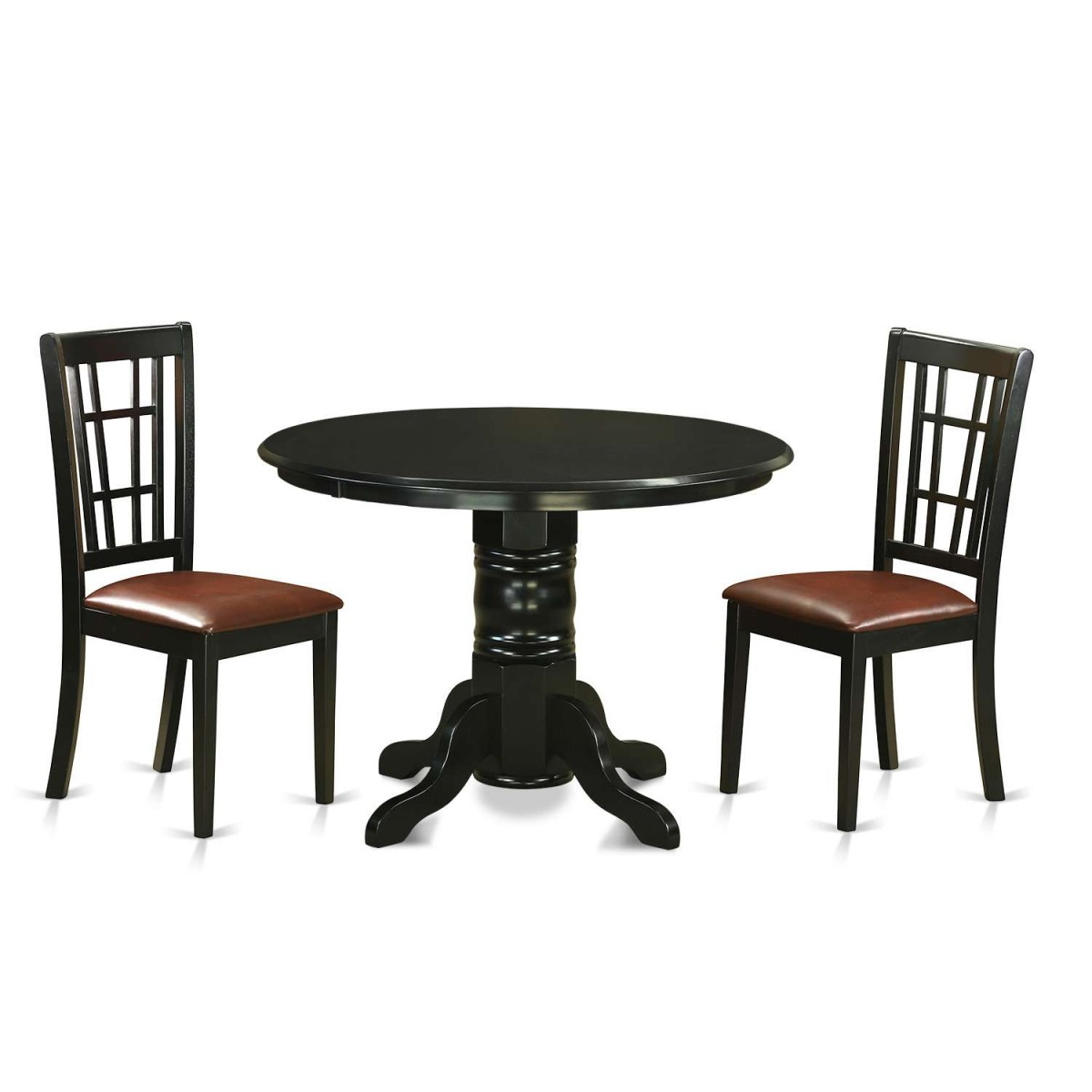 East West Nicoli 6 Piece Dining Set: East West Furniture Shelton 3 Piece Dining Table Set