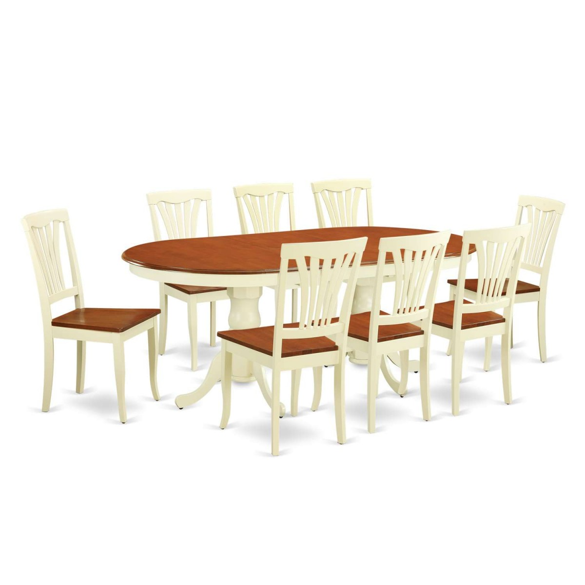9 Piece Dining Table Set For 8 Dining Room Table With 8: East West Furniture Plainville 9 Piece Dining Set