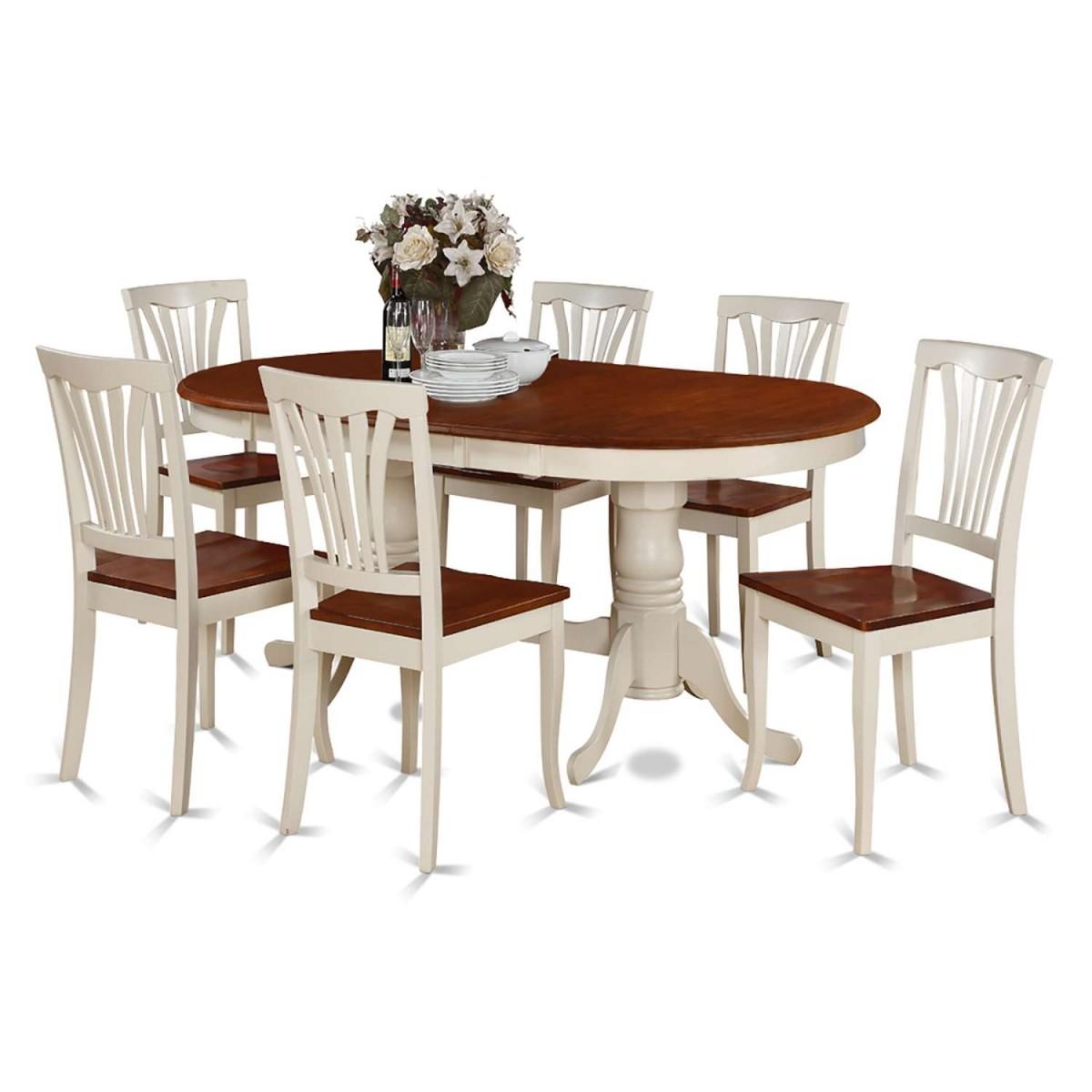 Cheap 7 Piece Dining Sets: East West Furniture Plainville 7 Piece Dining Set