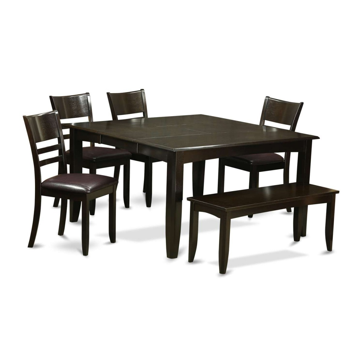 Square Dining Table With Bench: East West Furniture Parfait 6 Piece Dining Table Set With
