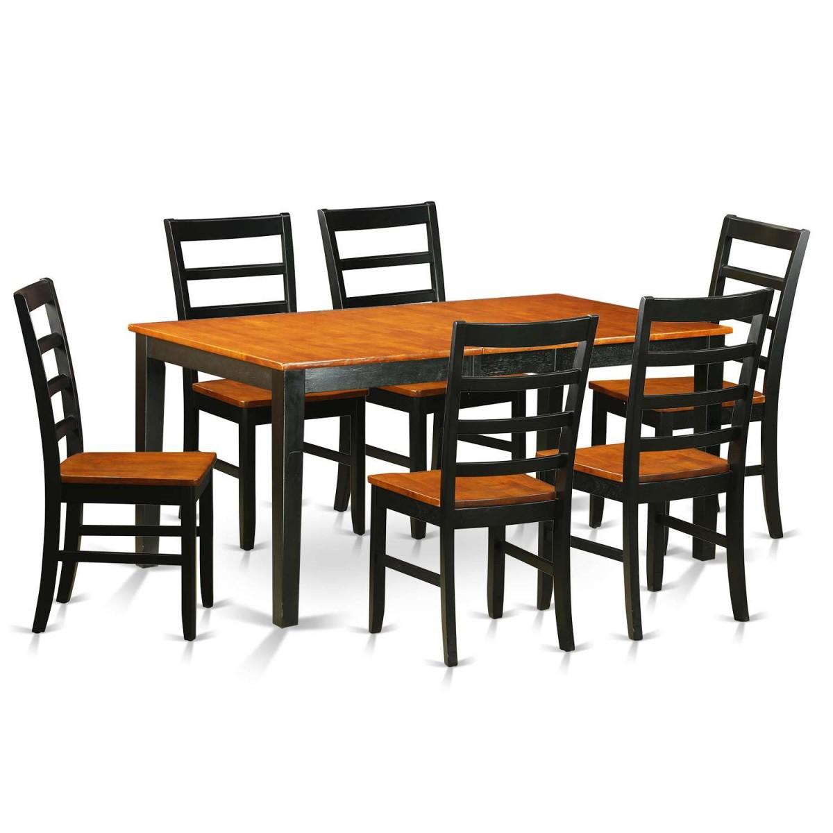 East West Nicoli 6 Piece Dining Set: East West Furniture Nicoli 7 Piece Dining Table Set