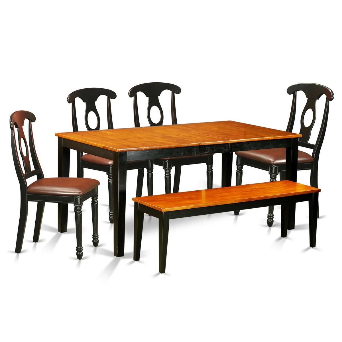 East West Nicoli 6 Piece Dining Set: East West Furniture Nicoli 6 Piece Dining Set