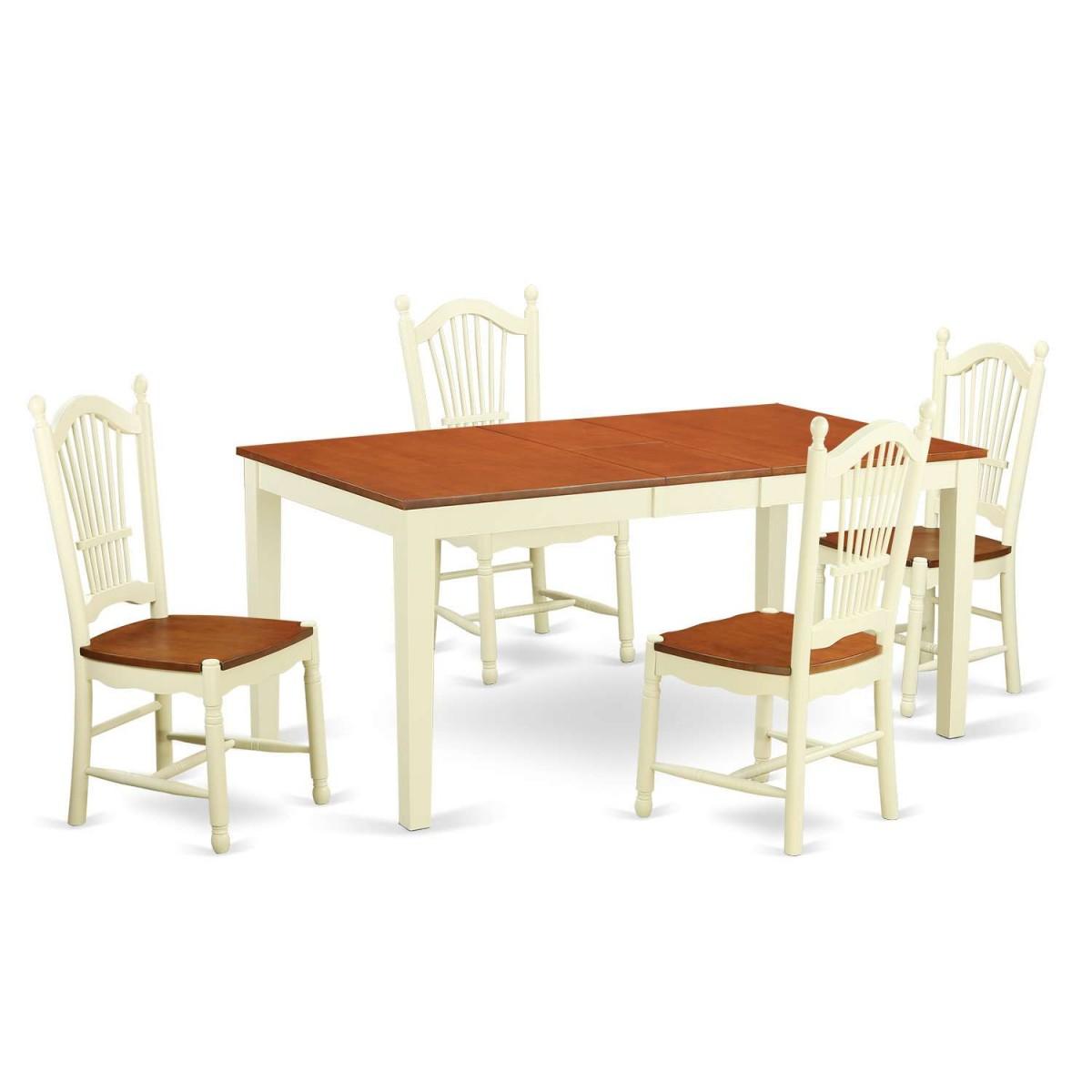East West Nicoli 6 Piece Dining Set: East West Furniture Nicoli 5 Piece Dining Table Set