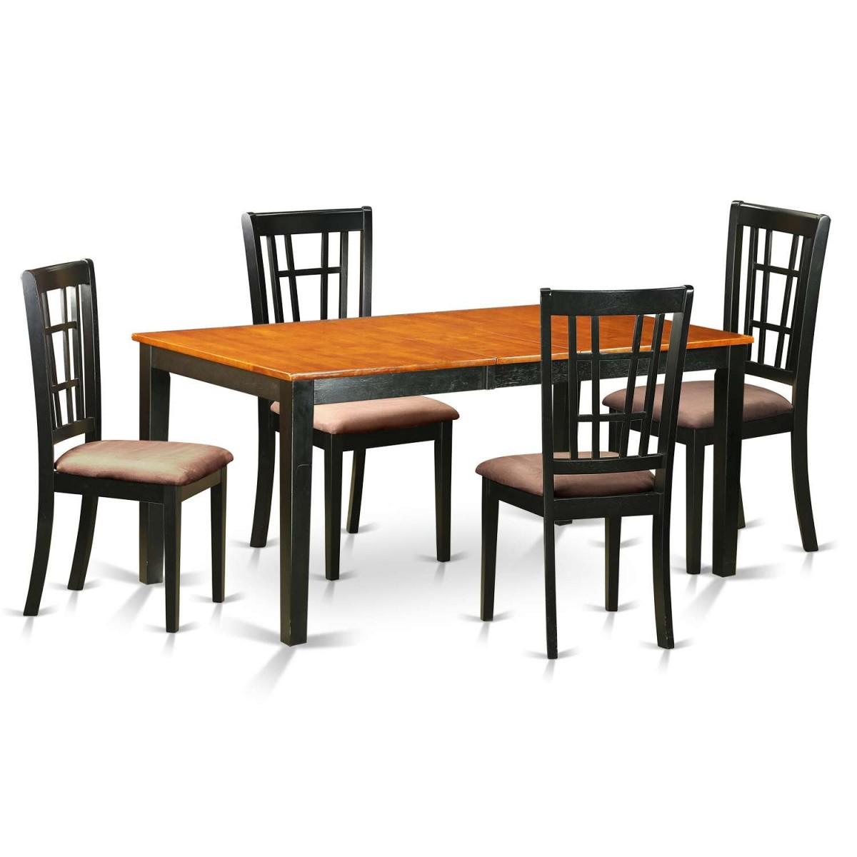 East West Nicoli 6 Piece Dining Set: East West Furniture Nicoli 5 Piece Dining Room Set