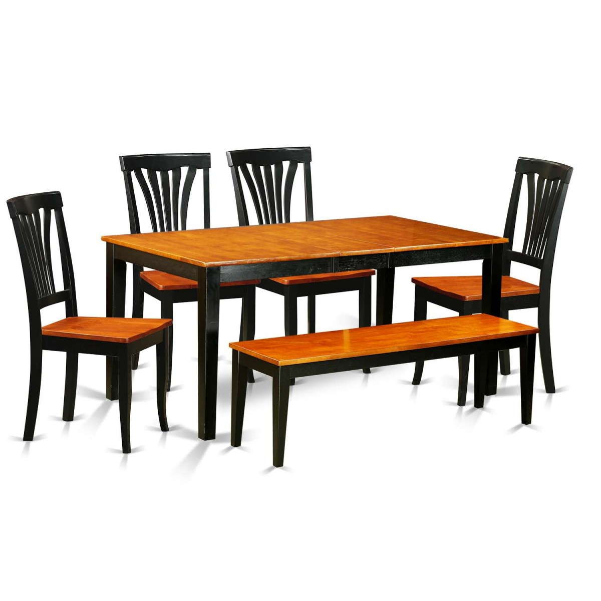 Kitchen Table With 6 Chairs: East West Furniture Nicoli 6 Piece Kitchen Table Set