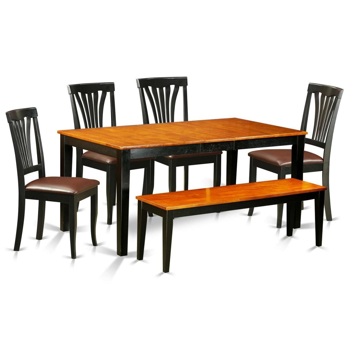 East West Nicoli 6 Piece Dining Set: East West Furniture Nicoli 6 Piece Kitchen Table Set