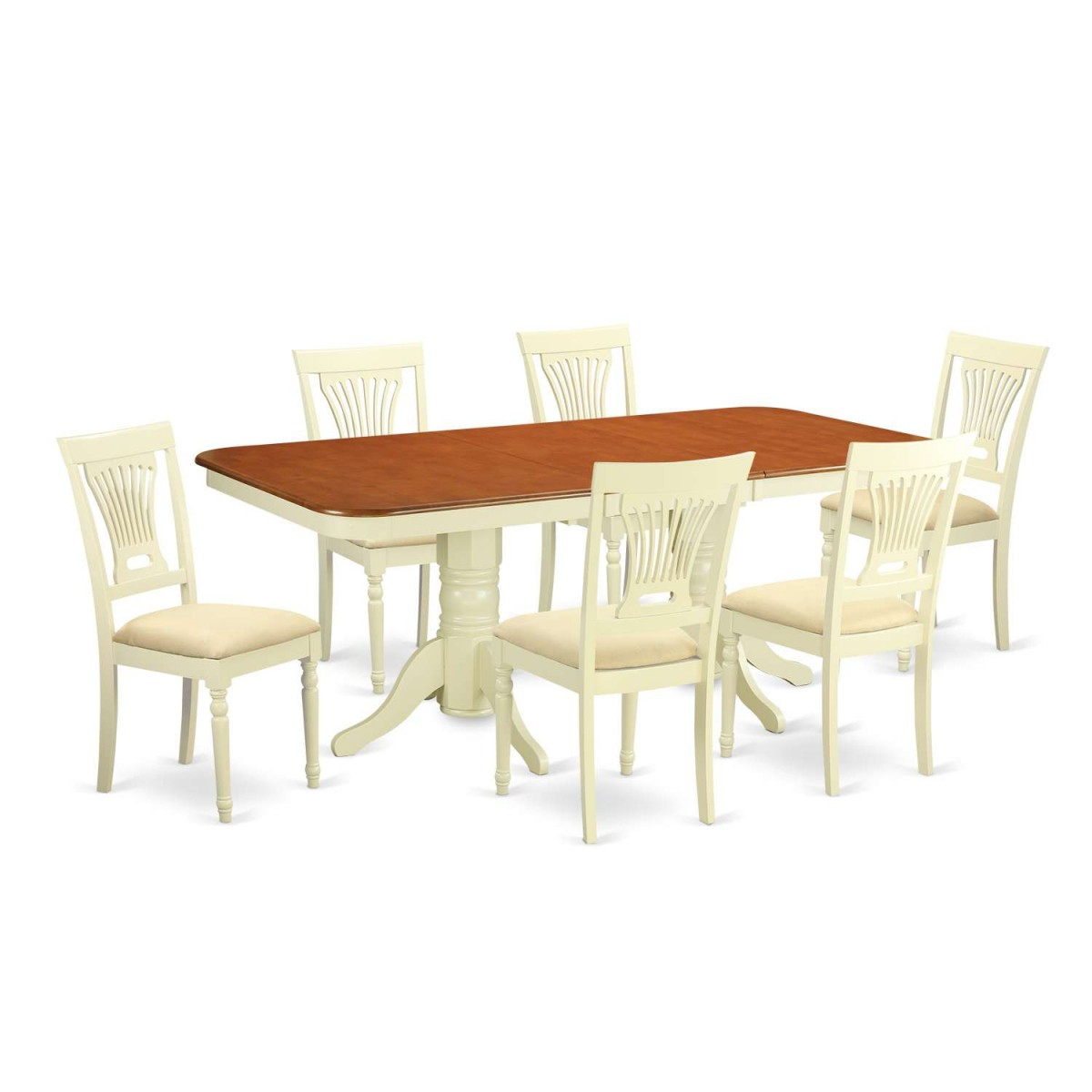 Formal Dining Table Set: East West Furniture Napoleon 7 Piece Formal Dining Table