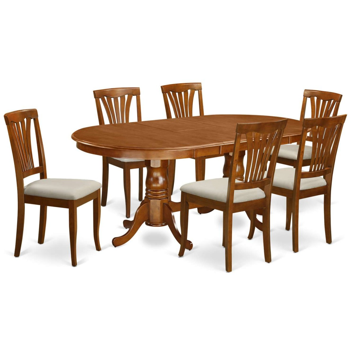 East West Furniture Napoleon 7 Piece Dining Table Set