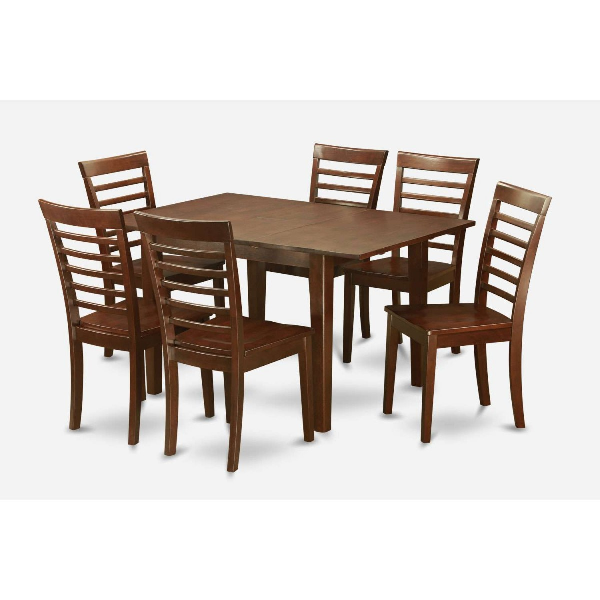 East West Furniture Milan 7 Piece Dining Table Set