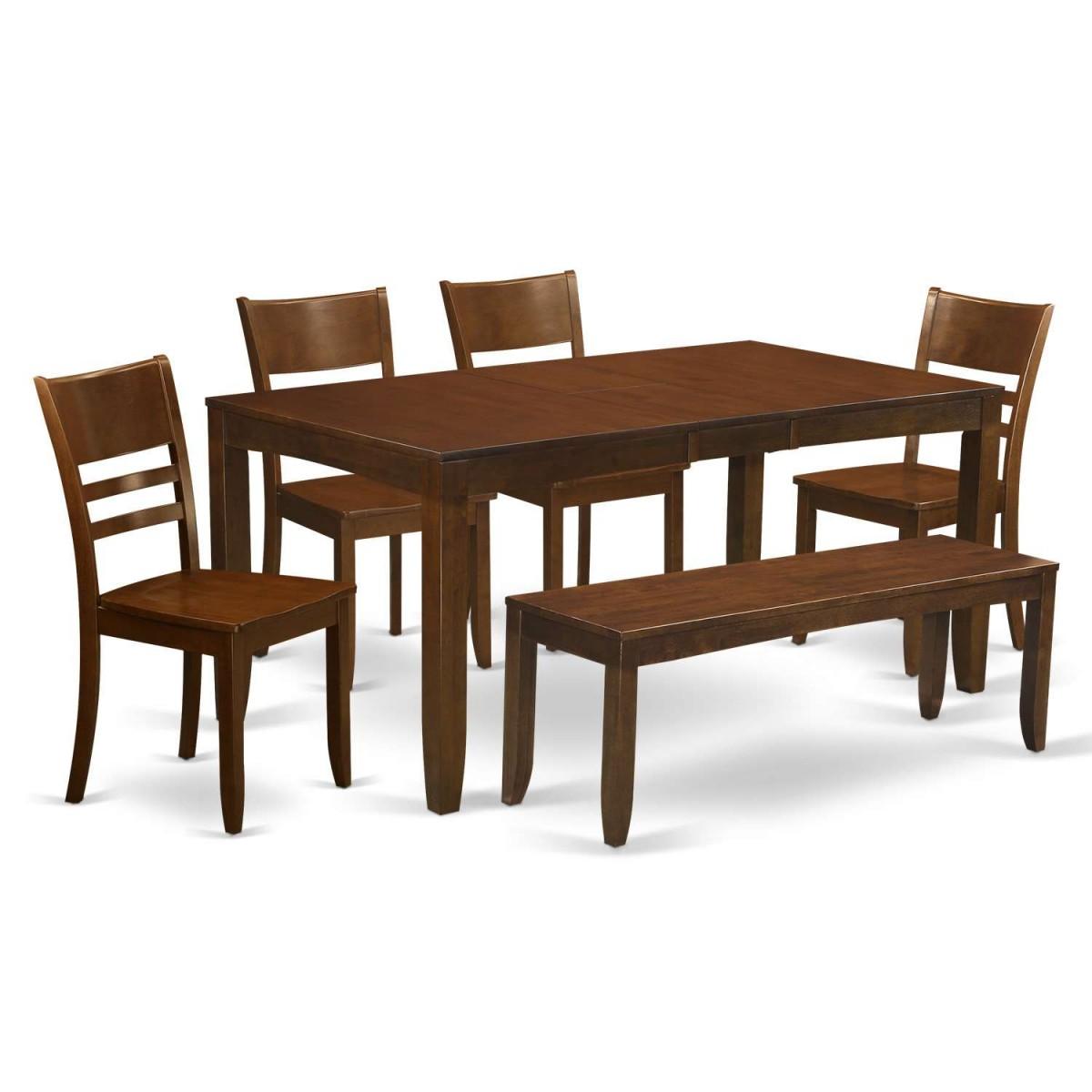 Wooden Importers Lynfield 6 Piece Dining Set: East West Furniture Lynfield 6 Piece Dining Table Set