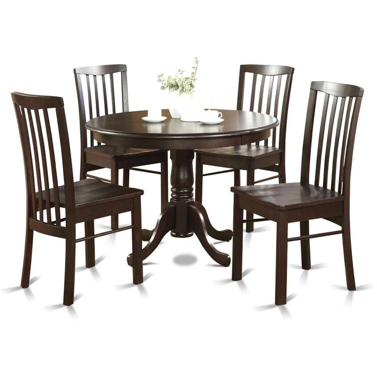 5 Piece Small Round Table And 4 Dining Chairs: East West Furniture Hartland 5 Piece Kitchen Nook Dining