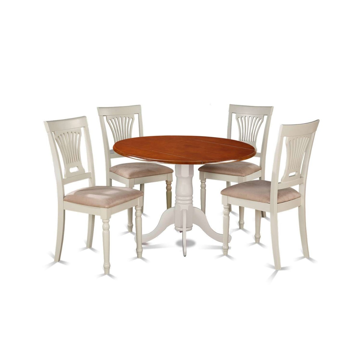 East West Furniture Dublin 5 Piece Small Kitchen Table Set
