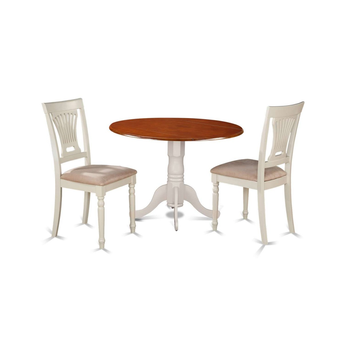 Kitchen Table And Chairs Dublin: East West Furniture Dublin 3 Piece Small Kitchen Table Set