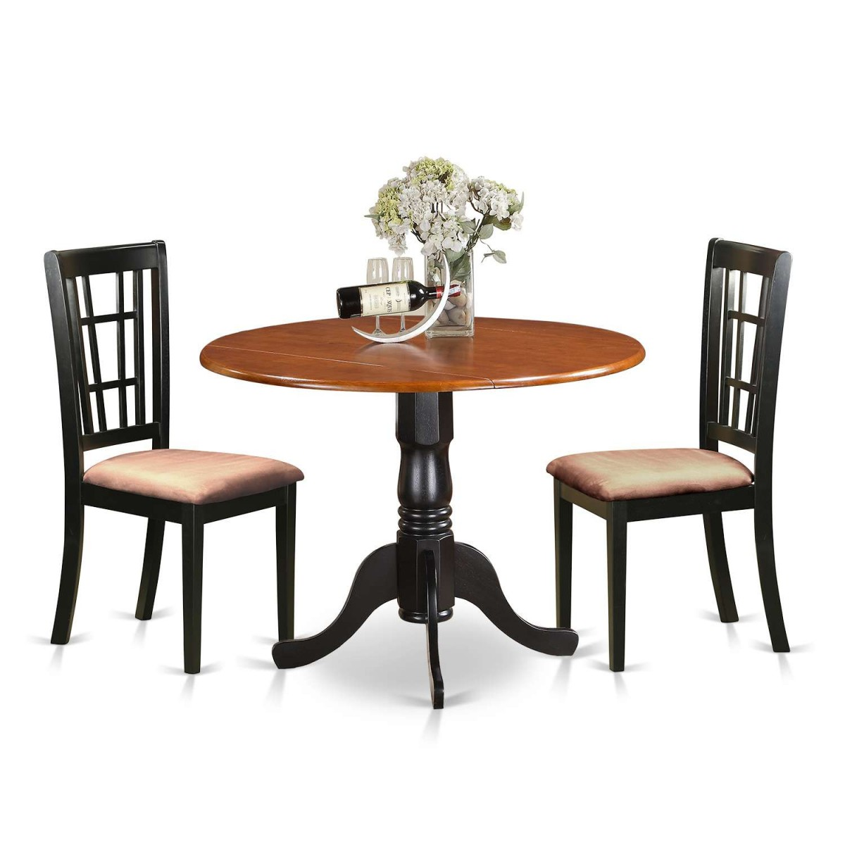 Kitchen Table And Chairs Dublin: East West Furniture Dublin 3 Piece Kitchen Table Set