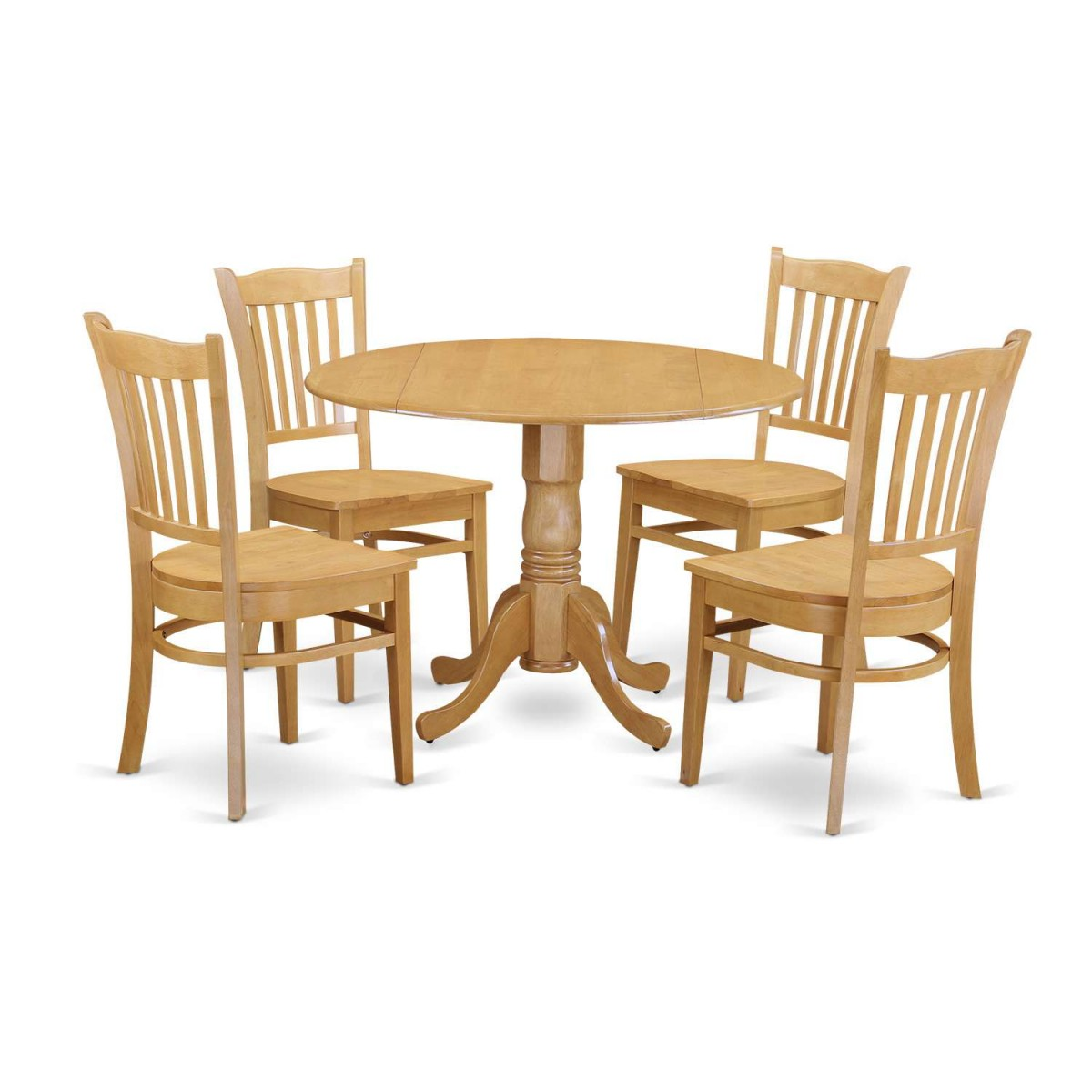 Kitchen Table And Chairs Dublin: East West Furniture Dublin 5 Piece Kitchen Table Set