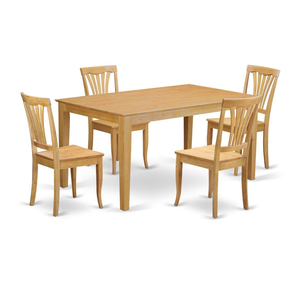 East West Furniture Capri 5 Piece Small Kitchen Table Set