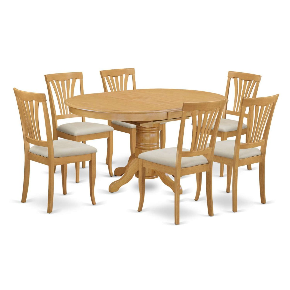 East West Furniture Avon 7 Piece Dining Table Set
