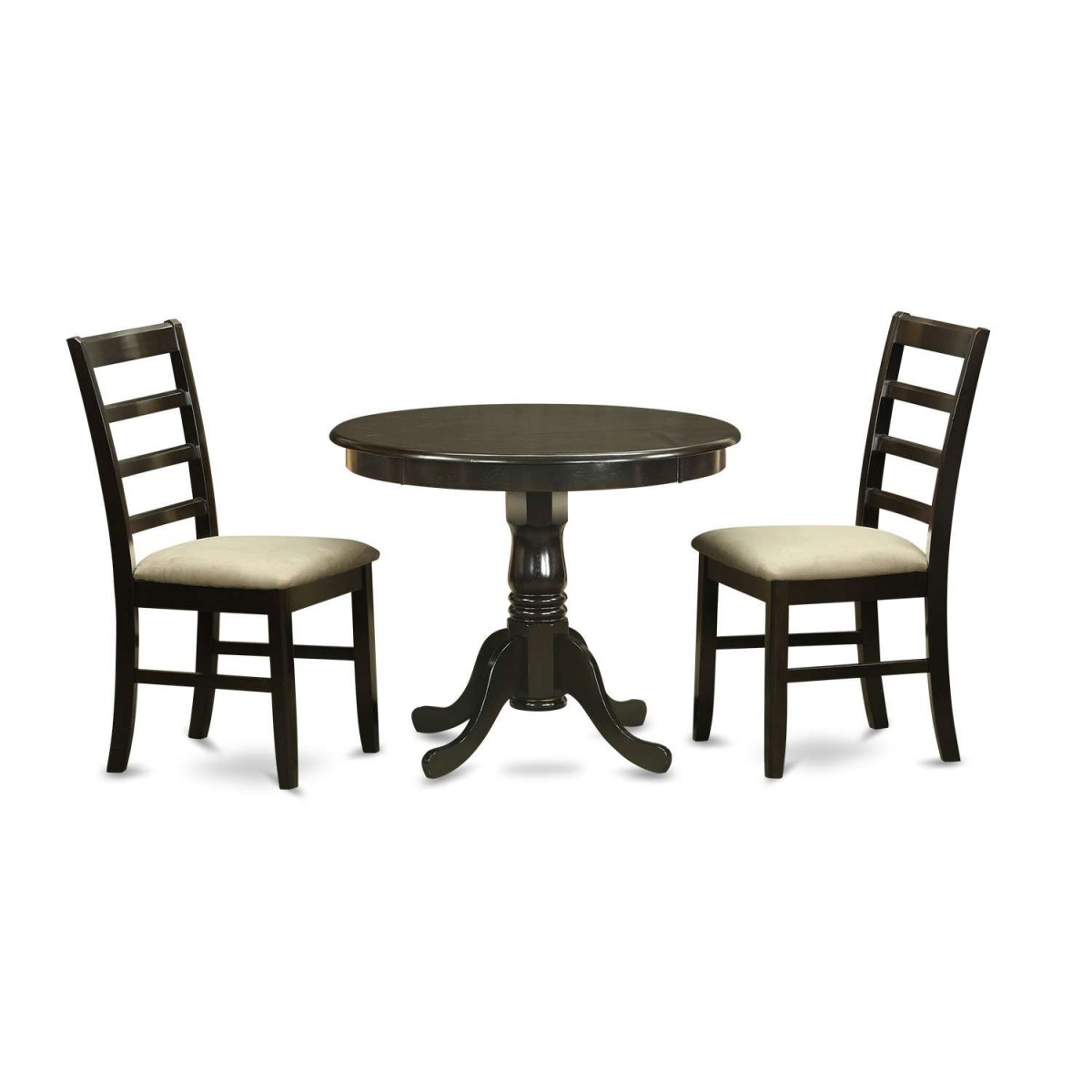 East West Furniture Antique 3 Piece Small Kitchen Table