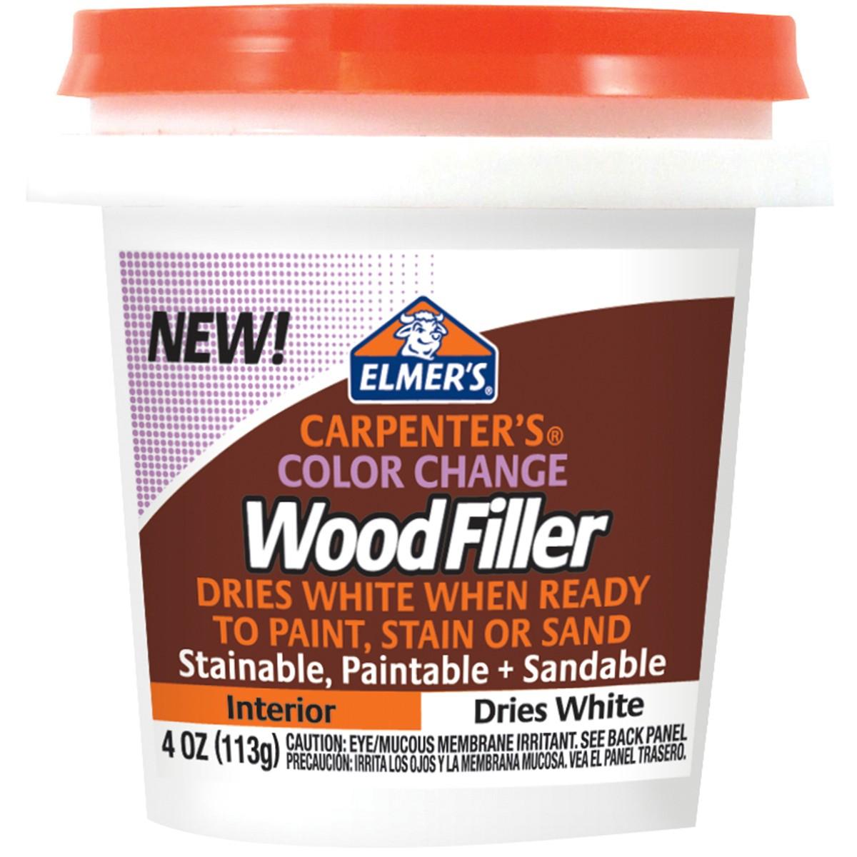 Elmers X Acto Elmer S Color Change Wood Filler 4oz White