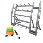 Element Fitness E-500-834CPAC Cardio Pump Rack with 20 Pump Capacity  Full Pump Set  and Metal Frame in Gray