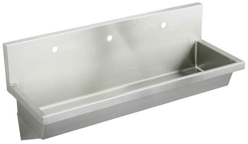 Belle Foret Bf838488 Oil Rubbed Bronze Four Light Bathroom: Elkay Steel Utility Sink EWMA72203 Lustrous Satin (with 3