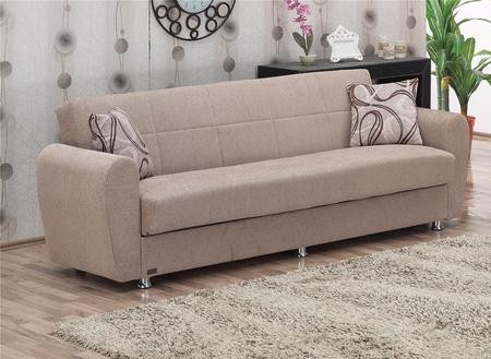 Empire Furniture Usa Colorado Collection Sb 88 Sofa Bed With Hidden Storage Compartment Polished Metal