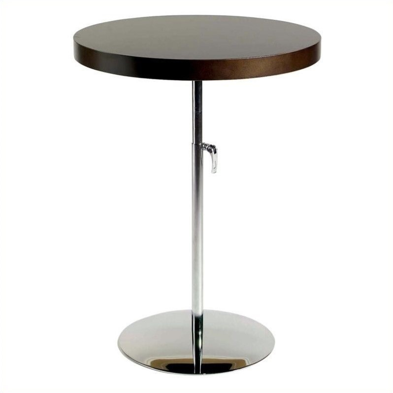 Wood And Metal Uriah Adjustable Accent Table: Eurostyle Ricardo Adjustable Wood Top Accent Table-Wenge