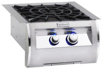 "FireMagic 194B2N0 Diamond 19"" Power Burner with Porcelain Cast Iron Grid  Up to 60 000 BTUs  Natural Gas in Stainless Steel"