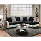 Flash Furniture RS-4174-02SEC-GG Riverstone Implosion Black and White Velvet Sectional