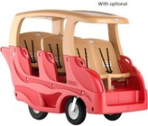 "Foundations Gaggle Collection 4162077 86"" Buggy with Stadium-Style Seating  Built-in Steps and Handles and Closed-Cell Polyurethane Tires in Red"