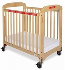 "Foundations First Responder Collection 1932047 40"" Compact Sided Evacuation Clearview Crib with Frame  3"" Thick Foam Mattress and Non-Distorting Clearview Acrylic Panels in Natural Color"