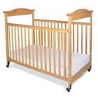 "Foundations Biltmore Collection 1842040 42"" SafeReach Clearview Compact Crib with 3"" Ultra-Durable Antimicrobial Mattress  Clearview End Panels in Natural Color"