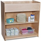 "Foundations SafetyCraft Collection 1673047 40"" Wood Changing Table with Storage in Natural Color"
