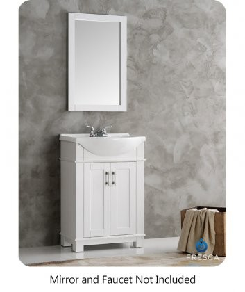 Fresca Hartford Collection Fvn2302wh Cmb 24 Traditional Bathroom Vanity With 2 Soft Closing